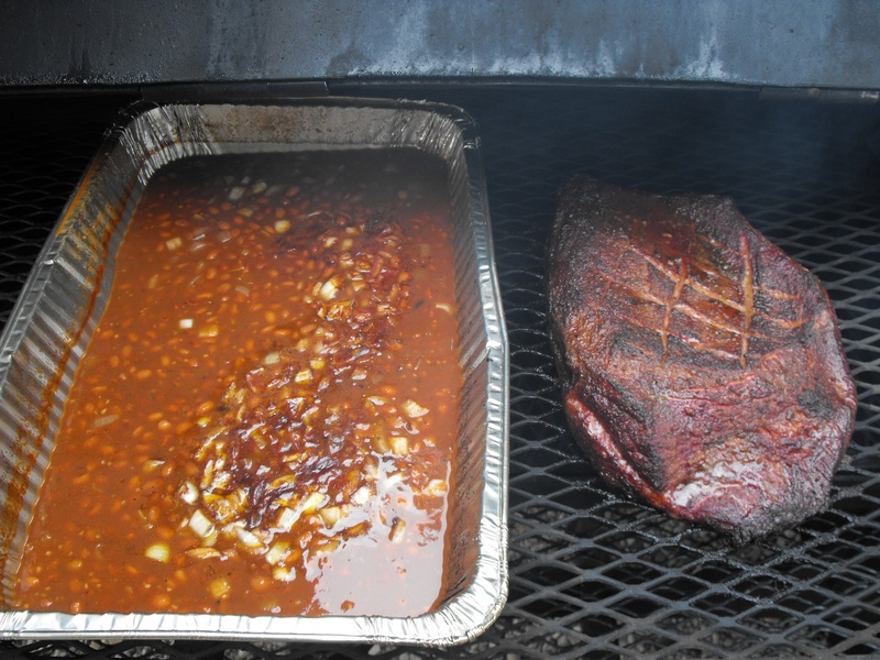 Brisket and beans